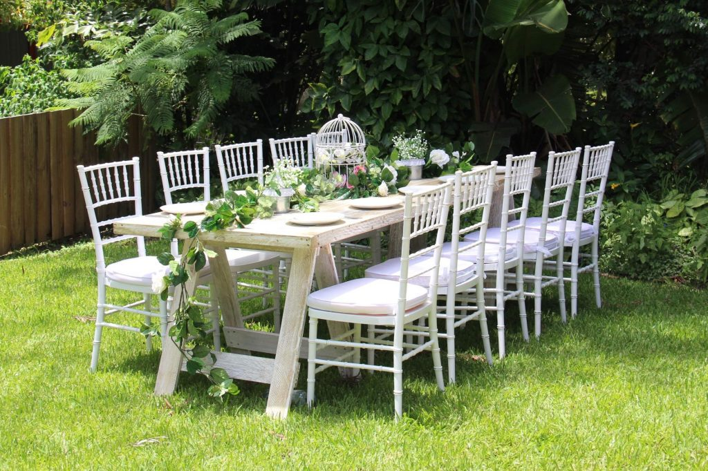 trestle_tiffany chairs I Do Weddings & Events Styling & Hire Gold Coast Wedding Decorations Prop Hire