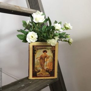 vintage biscuit tins | Flower Vessels