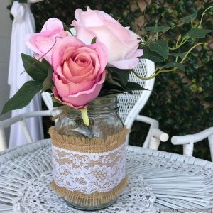 mason jars (hessian & lace) | Flower Vessels