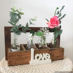 vintage wooden tool boxes | Flower Vessels