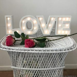 LOVE sign (LED lighting) | Signage & Easels