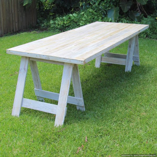 wooden trestle table (2.4m) | Tables & Bars